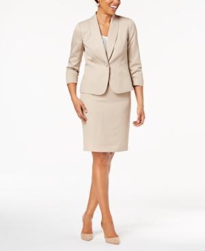 Le Suit Shawl-Collar Skirt Suit, Regular & Petite
