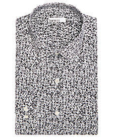 Bar III Men's Classic/Regular Fit Stretch Easy-Care Dandy Floral Dress Shirt, Created for Macy's