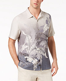 Tommy Bahama Men's Mystic Palms Floral-Print Jacquard Silk Camp Shirt