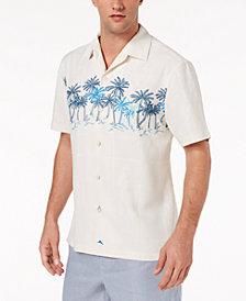 Tommy Bahama Men's Puerto Vallarta Palms Embroidered Windowpane Jacquard Silk Camp Shirt