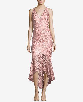 Xscape Lace High Low Gown Dresses Women Macys