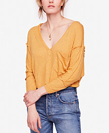 Free People Golden Gate 3/4-Sleeve V-Neck T-Shirt