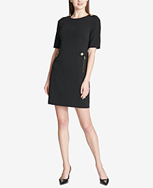 Calvin Klein Ponté-Knit Snap-Button Dress