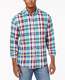 Tommy Hilfiger Men's Woven Plaid Shirt, Created for Macy's