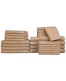 Baltic Linens Belvedere Row Cotton Dobby 24-Pc. Towel Set