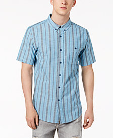 Ezekiel Men's Halston Textured Yarn-Dyed Stripe Pocket Shirt