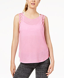 Gaiam Eden Vintage-Wash Cutout Tank Top