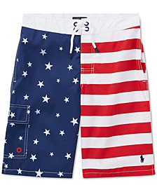 Polo Ralph Lauren Big Boys Kailua Flag Swim Trunks