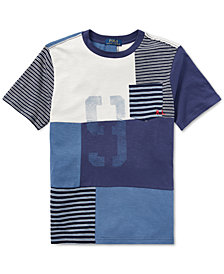 Polo Ralph Lauren Big Boys Patchwork Cotton T-Shirt