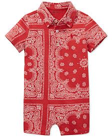 Polo Ralph Lauren Baby Boys Bandana-Print Cotton Romper