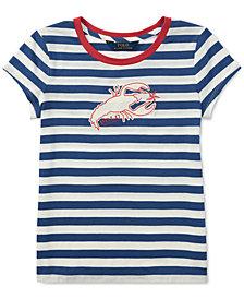 Polo Ralph Lauren Cotton Jersey Graphic T-Shirt, Big Girls