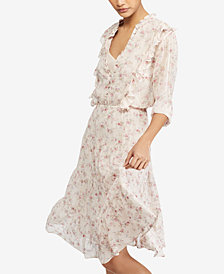 Polo Ralph Lauren Floral-Print Gauze Dress