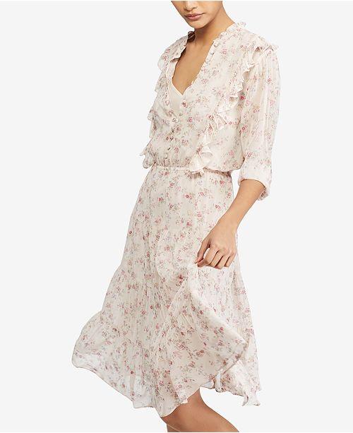 0aec9f522d9ec7 Polo Ralph Lauren Floral-Print Gauze Dress   Reviews - Dresses ...