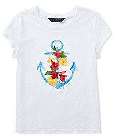Polo Ralph Lauren Big Girls Cotton Jersey Graphic T-Shirt