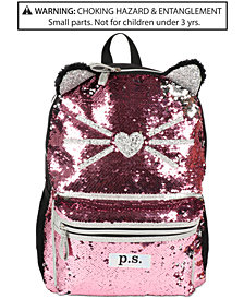 FAB Little & Big Girls Caticorn Sequin Backpack