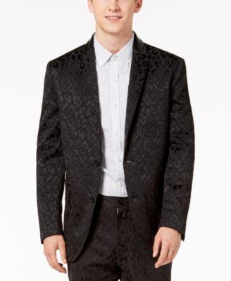 I.N.C. Men's Slim-Fit Leopard-Print Blazer, Created for Macy's