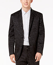 I.N.C. Men's Slim-Fit Leopard-Print Blazer, Created for Macy's