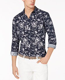I.N.C. Men's Miguel Splatter-Print Shirt, Created for Macy's
