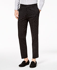 I.N.C. Men's Slim-Fit Leopard Pants, Created for Macy's