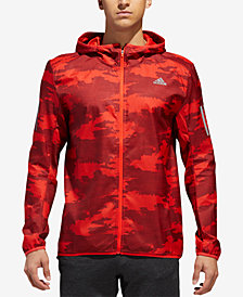 adidas Men's Camo-Print Water-Repellent Running Jacket