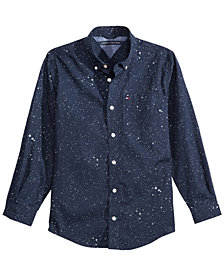 Tommy Hilfiger Big Boys Under the Stars Printed Cotton Shirt