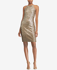 Lauren Ralph Lauren Sequin Halter Dress