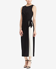 Lauren Ralph Lauren Two-Tone Jersey Dress, Regular & Petite