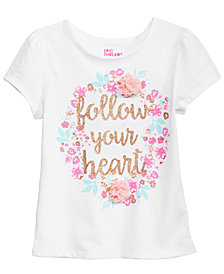 Epic Threads Toddler Girls Follow Your Heart T-Shirt, Created for Macy's