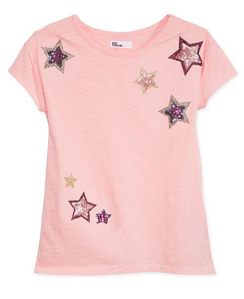 Epic Threads Big Girls Mesh-Back T-Shirt, Created for Macy's