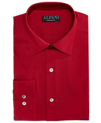 Image of AlfaTech by Alfani Men's Bedford Cord Classic/Regular Fit Dress Shirt, Created For Macy's