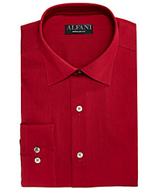 Alfani Men's Alfa Tech Bedford Cord Classic Fit Dress Shirt, Created For Macy's