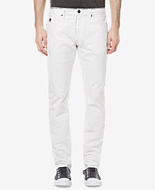 Buffalo David Bitton Men's Ash-X Slim Fit Stretch White Jeans