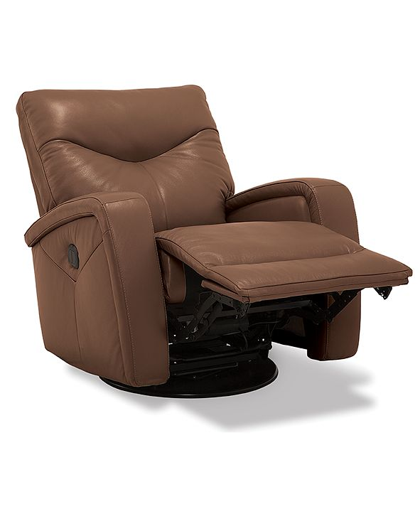 Furniture Erith Leather Power Swivel Glider Recliner