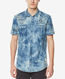 Buffalo David Bitton Men's Dual Pocket Stretch Denim Shirt