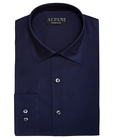 AlfaTech by Alfani Men's Solid Athletic Fit Dress Shirt, Created For Macy's