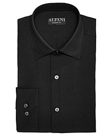 AlfaTech by Alfani Men's Reg/Classic Fit Performance Stretch Step Twill Textured Dress Shirt, Created For Macy's