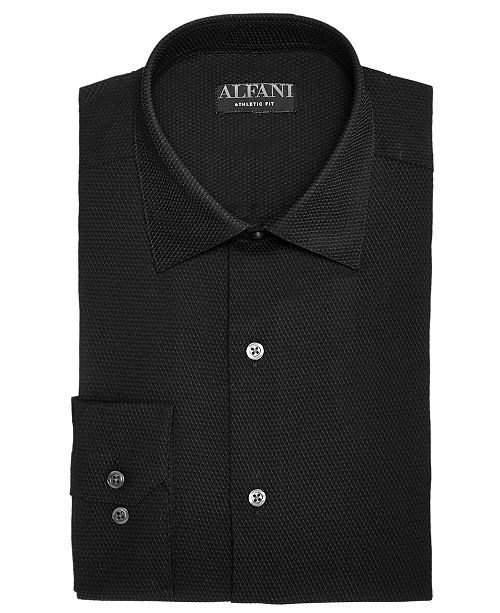 bb211493ca90 ... Alfani AlfaTech by Men's Athletic Fit Performance Stretch Step Twill  Textured Dress Shirt, Created For ...