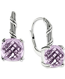 Lavender Amethyst Drop Earrings (8 ct. t.w.) in Sterling Silver (Also Available in Rose Quartz)