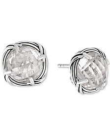Peter Thomas Roth Rock Crystal Stud Earrings in Sterling Silver