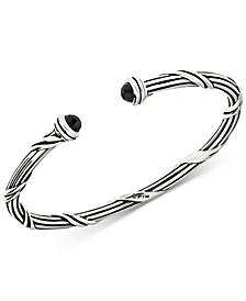 Onyx Cuff Bracelet (2-1/6 ct. t.w.) in Sterling Silver