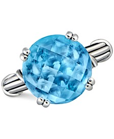 Blue Topaz Ring (12 ct. t.w.) in Sterling Silver