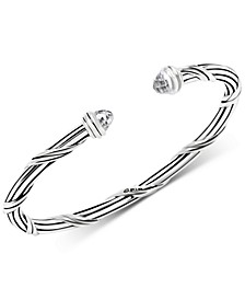 White Topaz Cuff Bracelet (2-3/4 ct. t.w.) in Sterling Silver