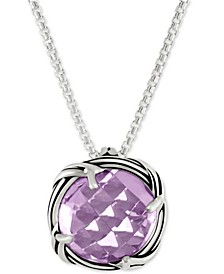 Lavender Amethyst Adjustable Pendant Necklace (4 ct. t.w.) in Sterling Silver