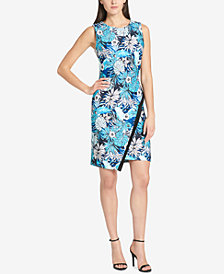 Tommy Hilfiger Printed Asymmetrical-Hem Sheath Dress