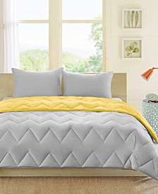 Trixie Reversible 3-Pc. Full/Queen Comforter Set