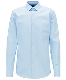 BOSS Men's Slim-Fit Easy-Iron Cotton Shirt
