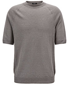 BOSS Men's Short-Sleeve Linen Sweater