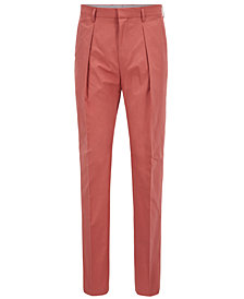 BOSS Men's Relaxed-Fit Cropped Cotton Trousers