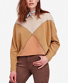 Free People Montauk Colorblocked Cotton Sweater