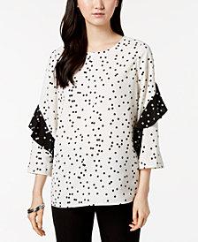 Alfani Ruffle-Sleeve Top, Created for Macy's